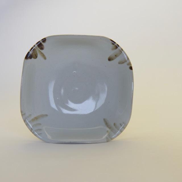 中里隆 アンダーソンランチ  鉄絵四方小皿