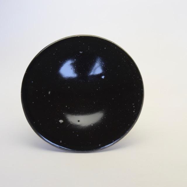 中里隆 黒釉皿