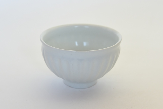 中里隆 アンダーソンランチ 白磁しのぎ文飯碗【ご飯茶わん】
