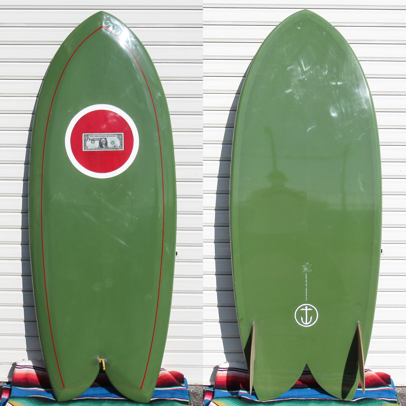 "【中古優良品】 McCallum / NEW FISH 5'2 x 22-7/8"" x 3""   【商品グレード】★★★☆☆ No.c1584"