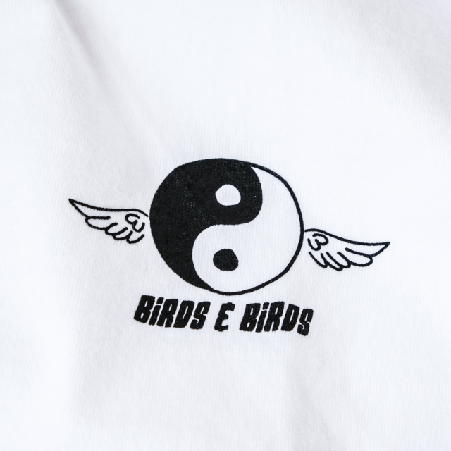 Birds'n'Birds【B&W-Wing-Tee】LOS ANGELES APPAREL-8.5oz