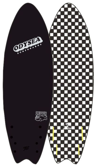"【即納可能・特典あり】ODYSEA SKIPPER FISH 6'0"" EARLY18' Black / BW Checker"