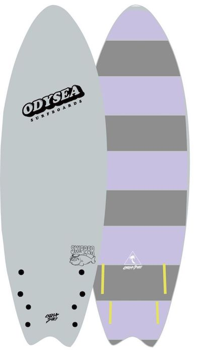 "【即納可能・特典あり】ODYSEA SKIPPER FISH 6'0"" EARLY18' Off White / Grey Stripe"