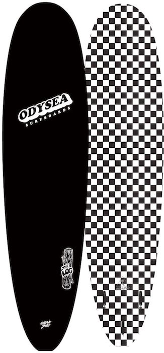 "【即納可能・特典あり】ODYSEA LOG 7'0"" EARLY18' Black / BW Checker"