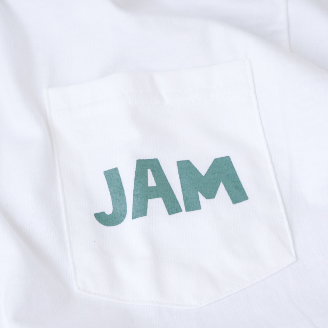 Birds'n'Birds【JAM-Tee】6.1oz Pocket-T WHITE