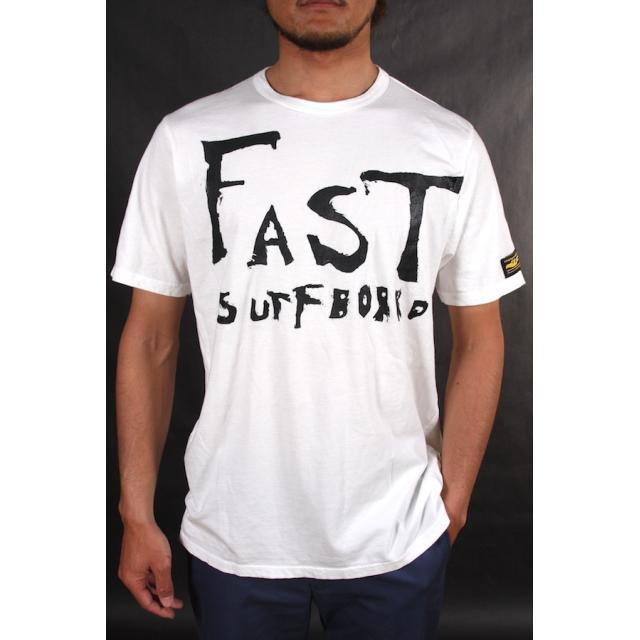 【FAST SURFBOARDS】 Tシャツ 「FAST SURFBOARDS」 / WHITE / Lサイズ
