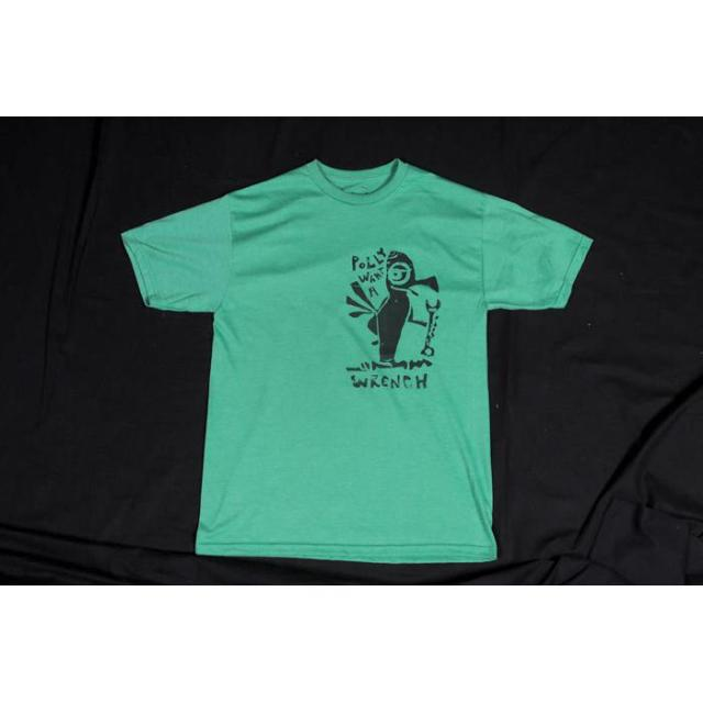UNITED50 Tシャツ 「HRGS  POLY WHAT A WRENCH』Green M/Lサイズのみ