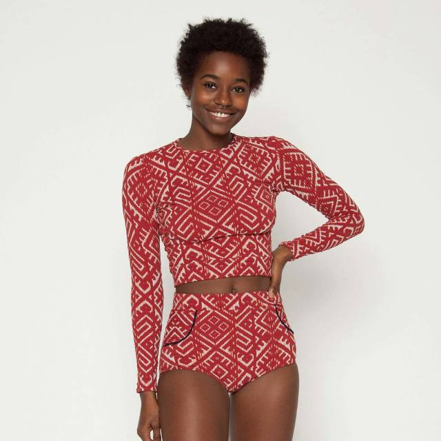 Seea Palomar Crop Top Henna