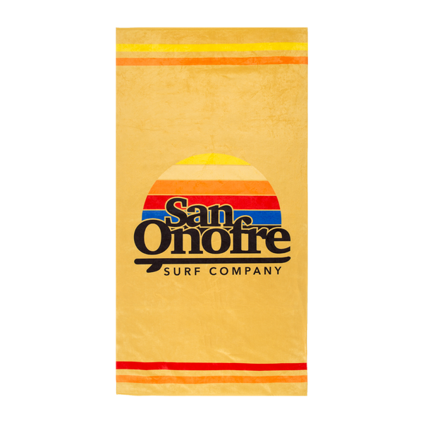 SAN ONOFRE SURF COMPANY / OLD SCHOOL SUN TOWEL