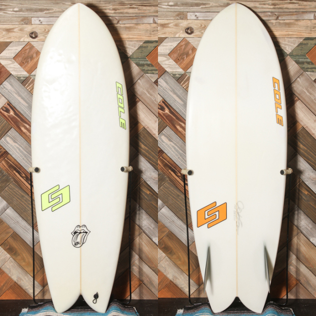 "【中古良品】COLE RETRO ROCKET TWIN FISH 5'5"" x 20-3/4"" x 2-3/4""  【商品グレード】★★☆☆☆ No.c1512"