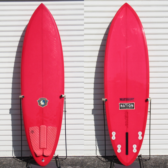 "【中古優良品】 NATION / PINK CHAMPAGNE ON ICE 6'3"" x 20-1/2"" x 2-1/2"" 【商品グレード】★★★☆☆ No.c1630"