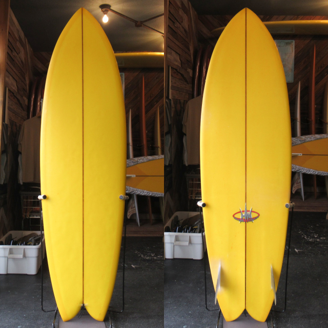 "【中古優良品】 HANK WARNER / FISH SIMMONS 6'8"" x 22-5/8"" x 3"" 【商品グレード】★★★☆☆ No.c1636"