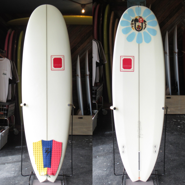 "【中古優良品】 CANVAS / MINI NOSERIDER 5'12"" x 21"" x 2-1/2"" 【商品グレード】★★★☆☆ No.k206"
