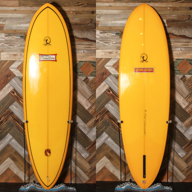 "【中古優良品】 Dewey Weber Feather Fastback 6'10"" x 22 x 2-7/8""  【商品グレード】★★★☆☆ No.k75"