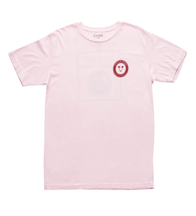 CATCH SURF TWIN PALM MARQUEE S/S TEE - PINK