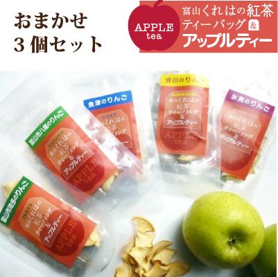 富山のアップルティー 3個セット(紅茶ティーバッグ&アップルティー) 富山紅茶の会【メール便】