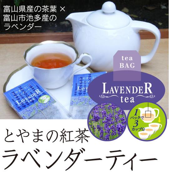 とやまの紅茶 ラベンダーティー 3個セット(ティーバッグ入りラベンダー紅茶) 富山紅茶の会【メール便】
