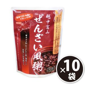 ぜんざい風粥 10袋 コシヒカリ&古代米を掛け合わせた「むすび米」使用[p10]