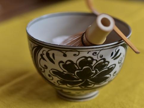 古曽部 絵高麗茶碗メイン