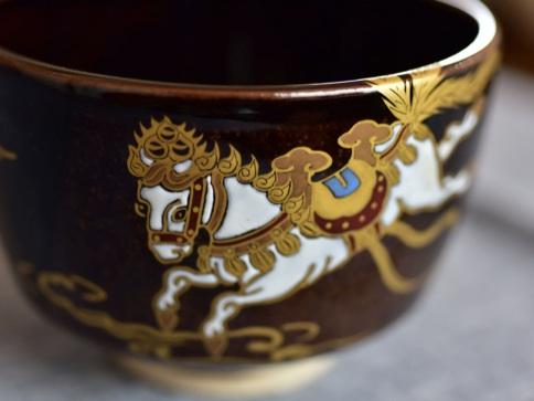 膳所焼 干支茶碗(午)メイン