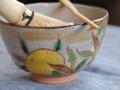乾山橙茶碗