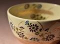 色絵菊画茶碗メイン