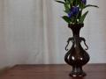 唐銅 木瓜型 花入メイン