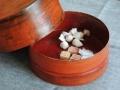 朱塗竹菓子器