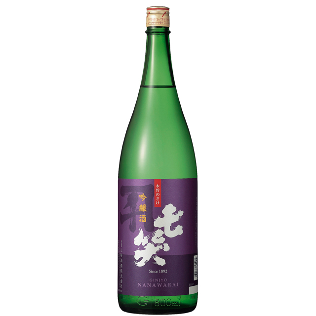 吟醸1.8L 七笑酒造(ワイングラスでおいしい日本酒アワード 2019金賞受賞)