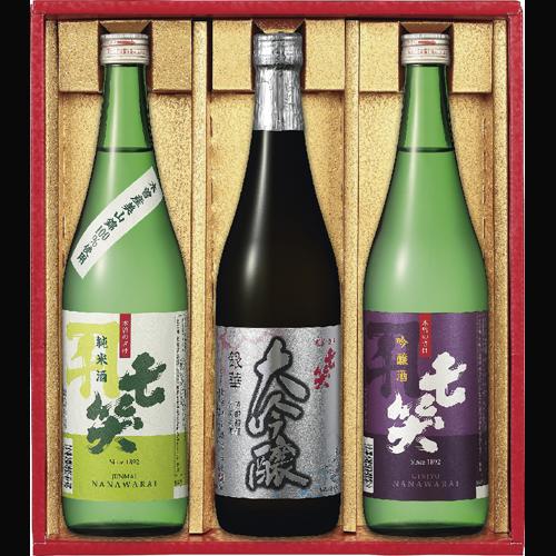 最高金賞 720ml×3本セット 七笑 日本酒(ワイングラスでおいしい日本酒アワード 2021)