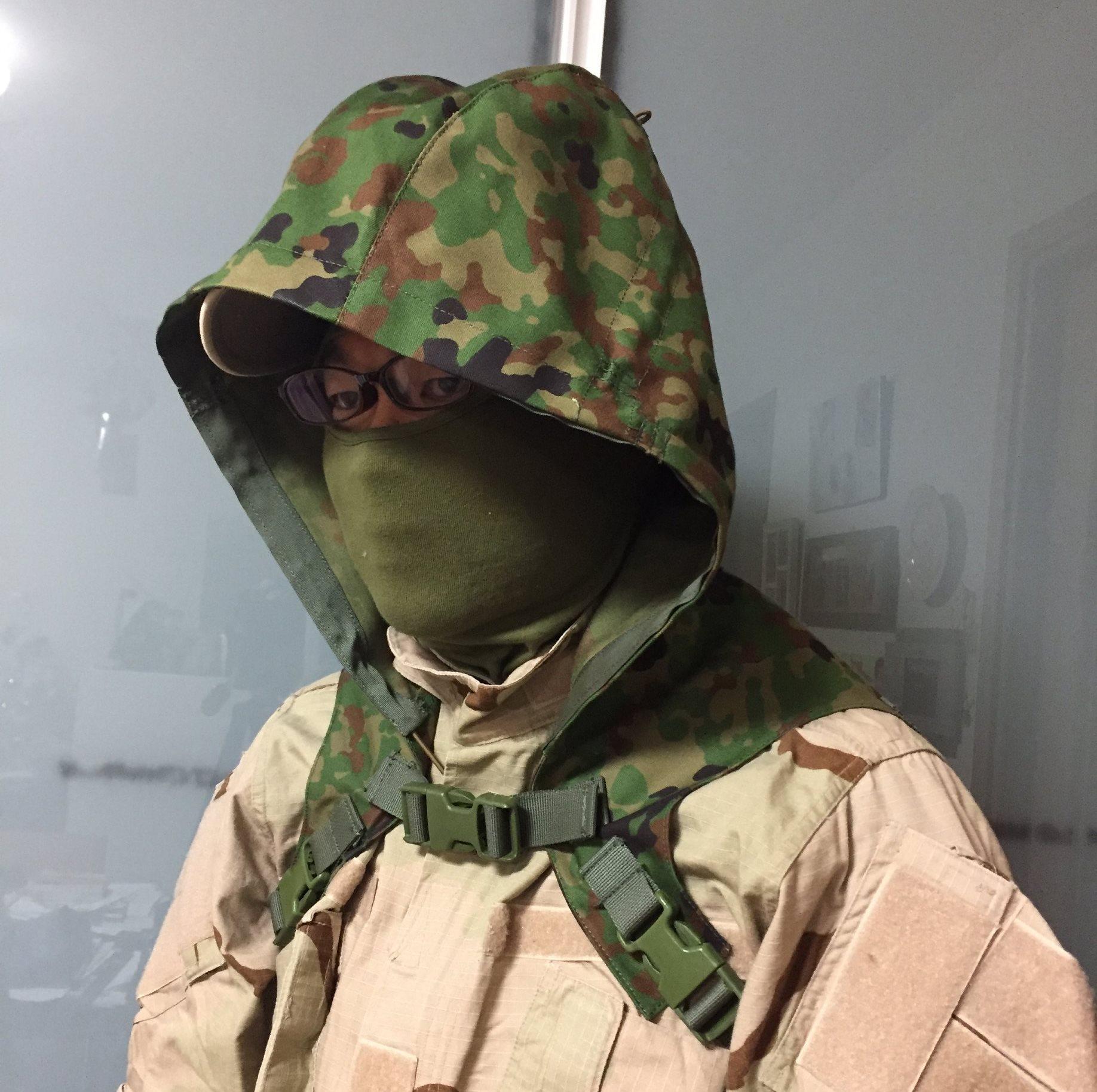 Sukerucom南蛮堂コラボ商品 SDF Tactical Alone Hood タクティカルアローンフード陸自迷彩