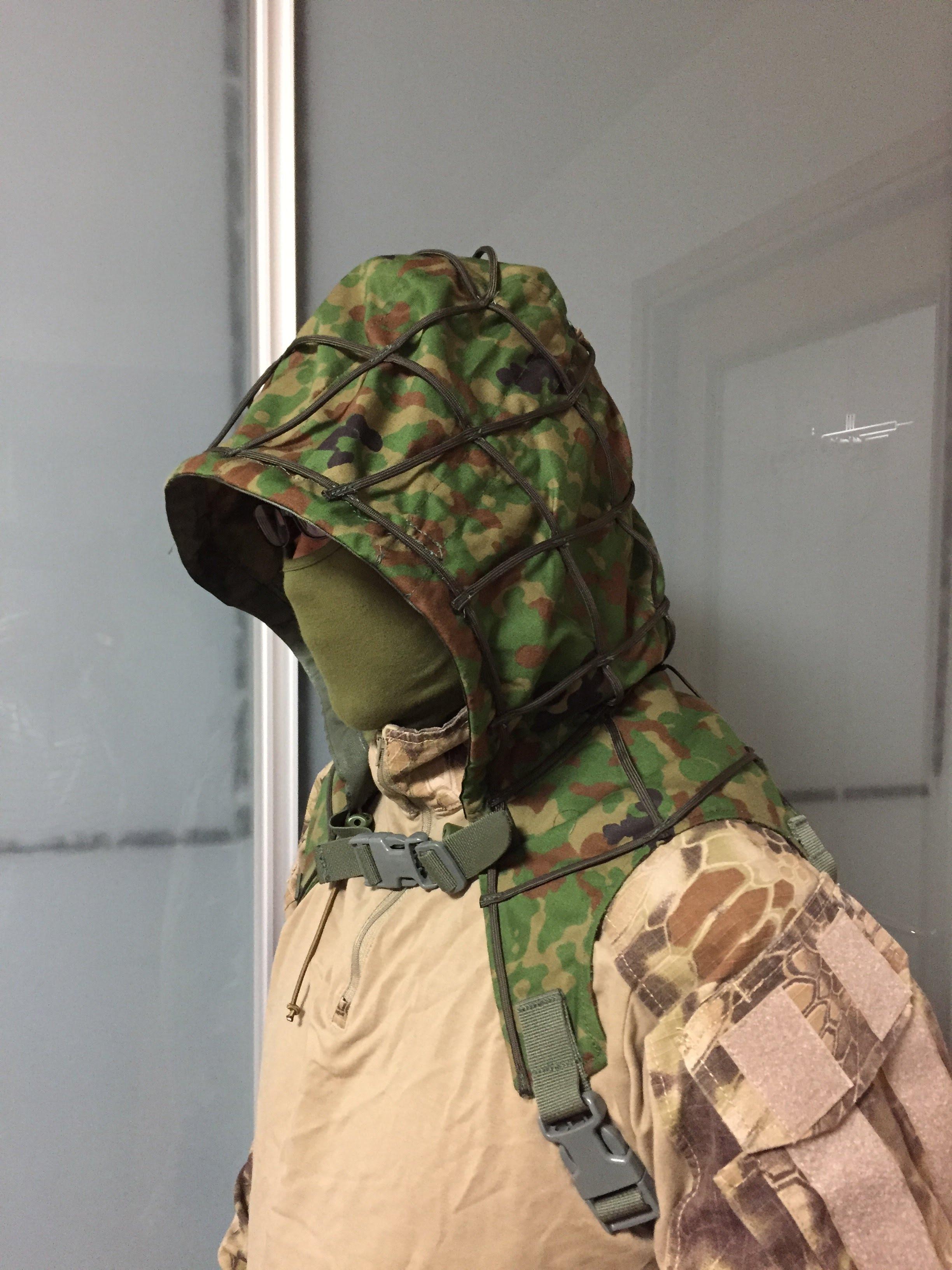 Sukerucom南蛮堂コラボ商品 SDF Tactical Alone Hood タクティカルアローンフード パラコード版 限定色陸自迷彩