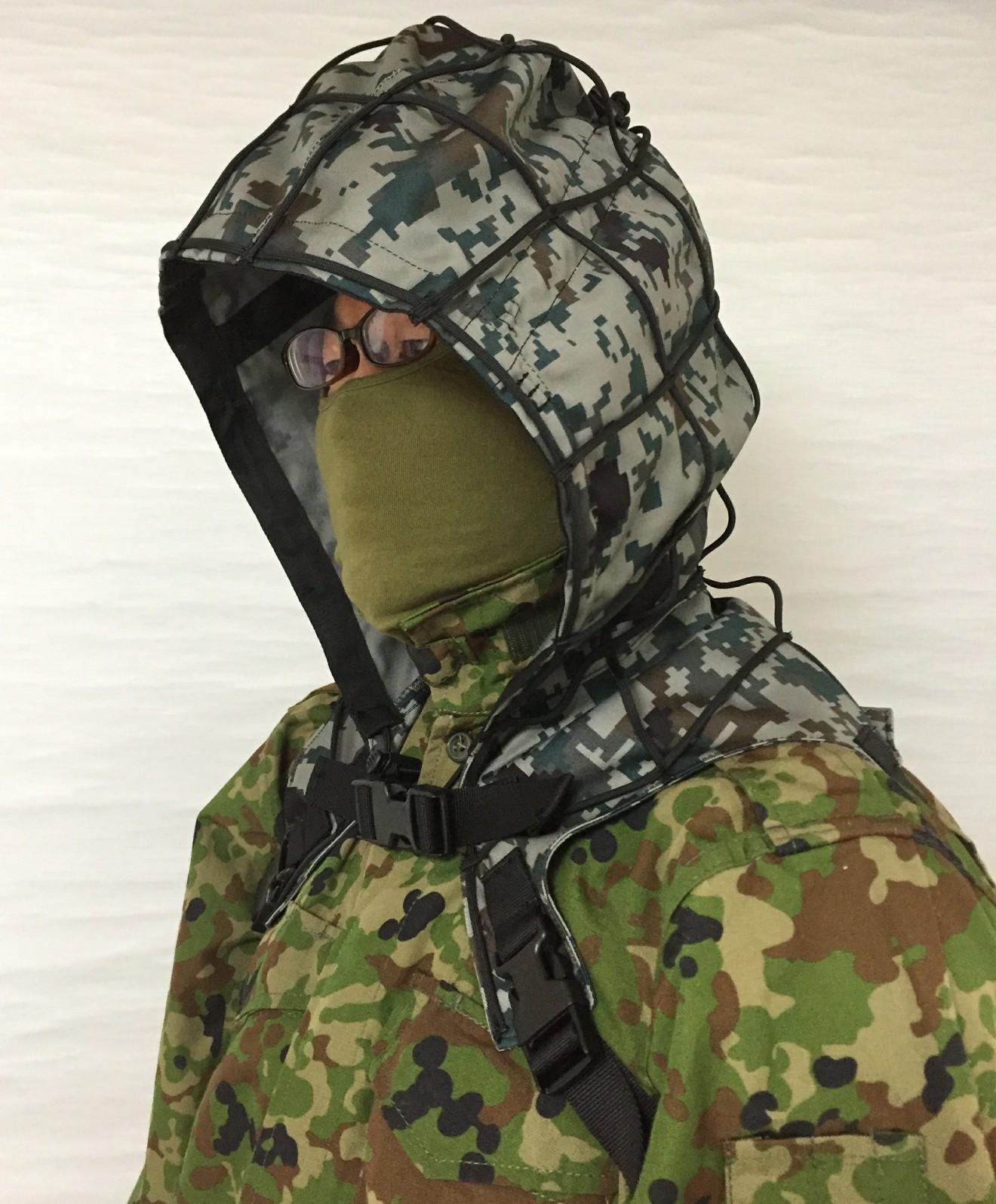 Sukerucom南蛮堂コラボ商品 SDF Tactical Alone Hood タクティカルアローンフード パラコード版 限定色空自迷彩