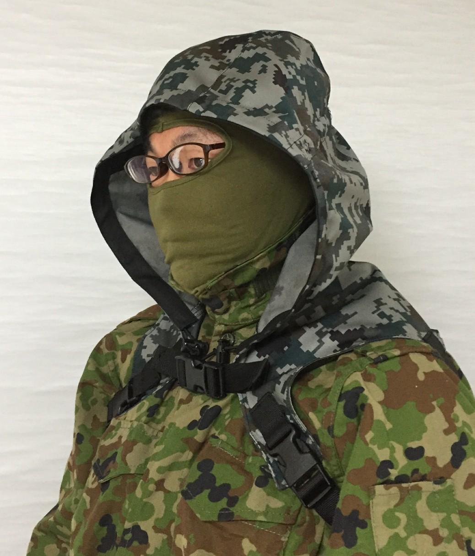 Sukerucom南蛮堂コラボ商品 SDF Tactical Alone Hood タクティカルアローンフード空自迷彩