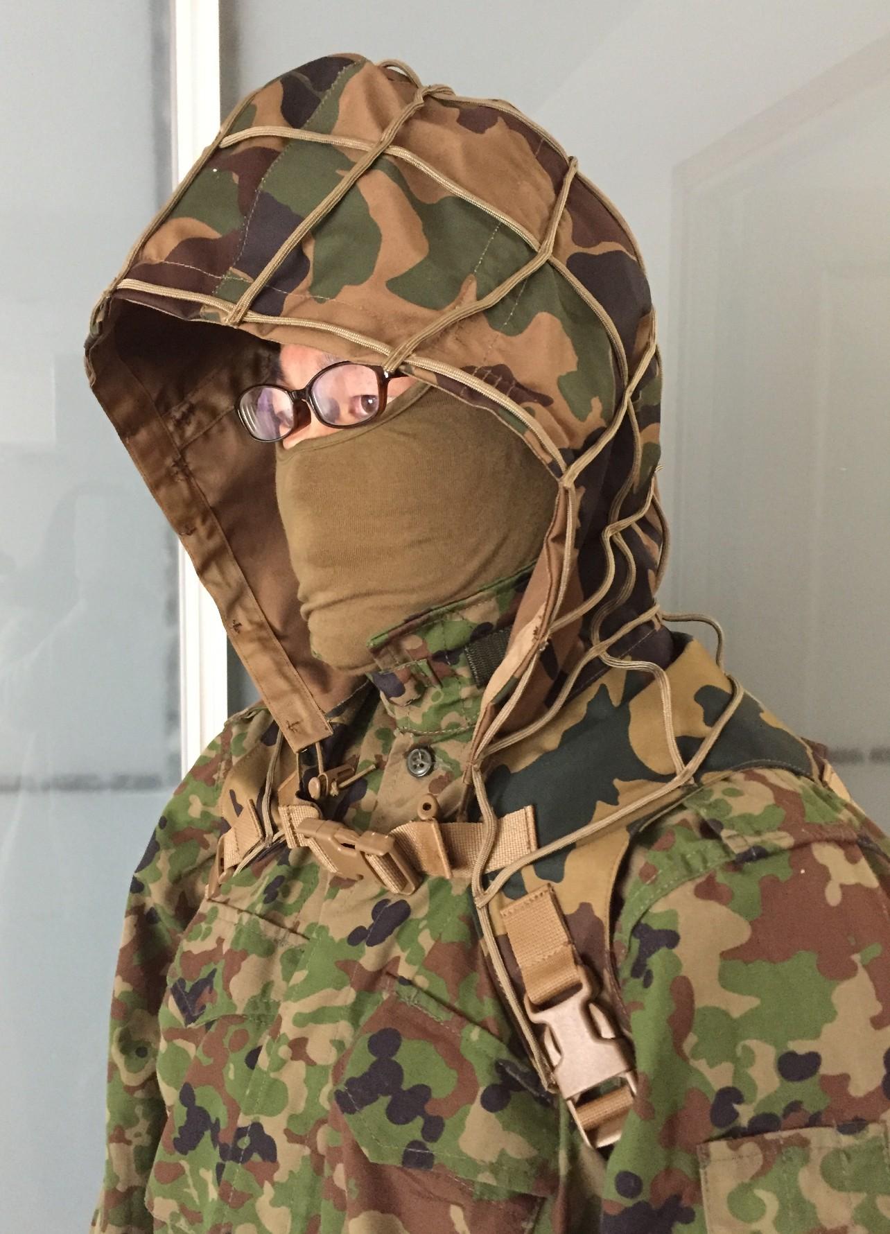 Sukerucom南蛮堂コラボ商品 SDF Tactical Alone Hood タクティカルアローンフード パラコード版 限定色陸自FTC迷彩