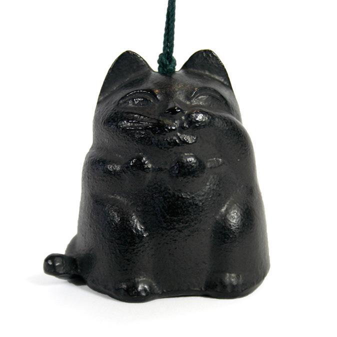 南部鉄器 風鈴 猫 ねこ(黒)