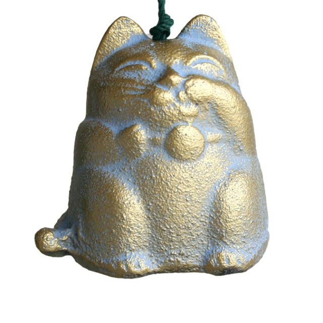 南部鉄器 風鈴 猫 ねこ(金)