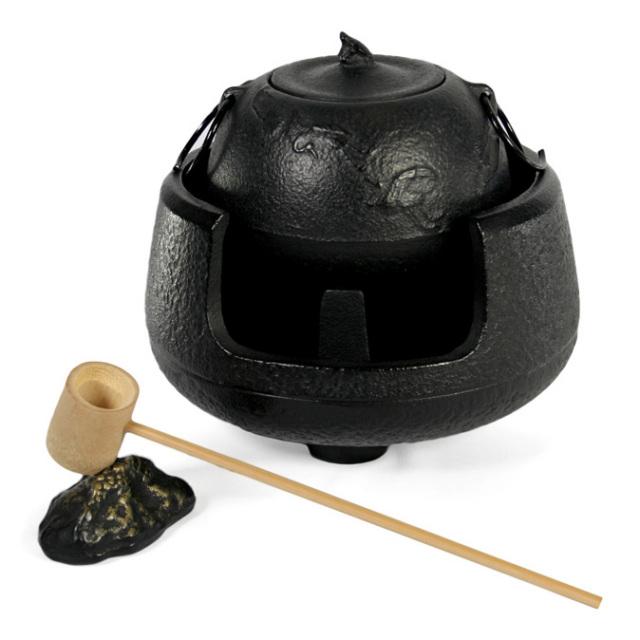 南部鉄器 湯釜酒器セット 『 ツルカメ 』 0.6L