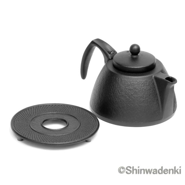 南部鉄器/南部鉄瓶 コーヒーポットセット(ブラック)