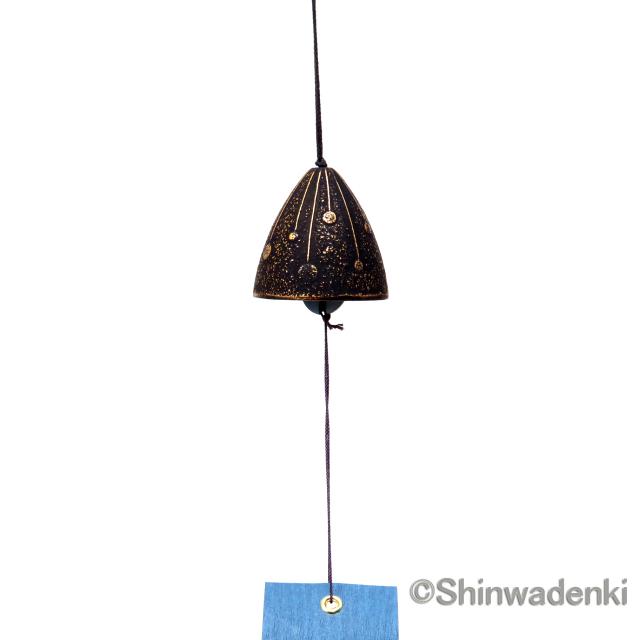 南部鉄器 風鈴 線香花火(金/黒)