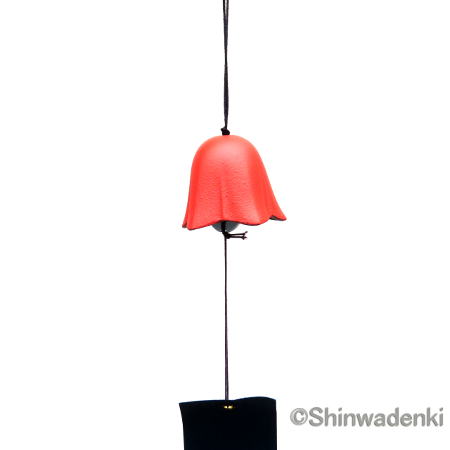 南部鉄器 風鈴 花(ワインレッド)