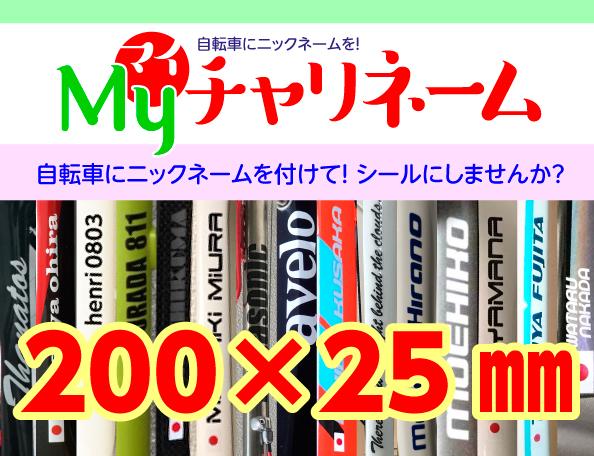 200×25ミリネームシール
