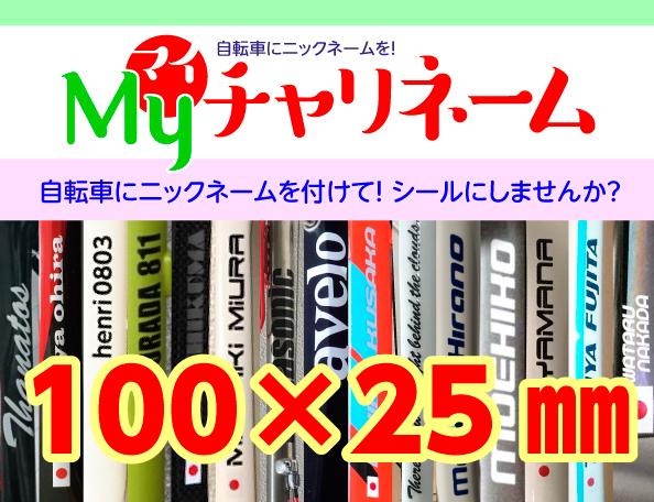 100×25ミリネームシール