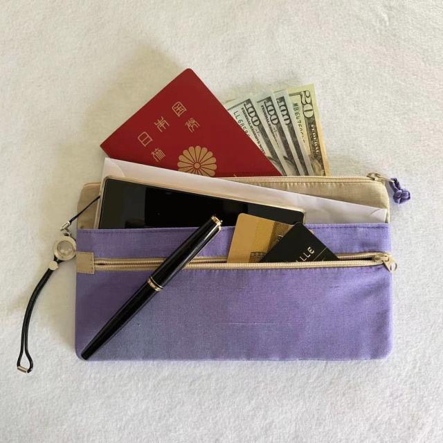 nanfan トラベルホルダー パスポート、スマホ、カードとこれ一つで旅行も快適