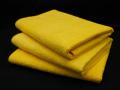 愛車の洗車・コーティング・メンテナンスに最適!厚手で大判のカーケア用タオル − マイクロファイバータオル(イエロー) 3枚セット