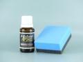 ハイブリッドナノガラスの樹脂専用コーティングは、コーティング剤だけでなく専用のコーティングスポンジも付属しています