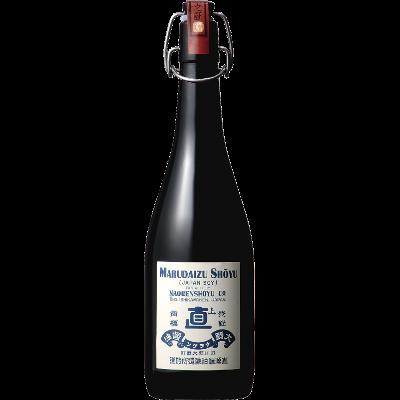丸大豆醤油「もろみの雫」 720ml レトロ瓶