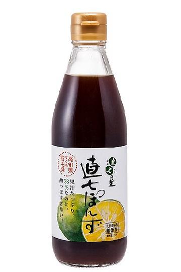 直七果汁たっぷり!まろやかポン酢 【直七ぽんず(360ml)化粧箱なし】