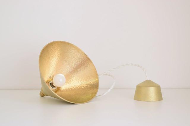 ランプ円錐 鍛金 鋳肌