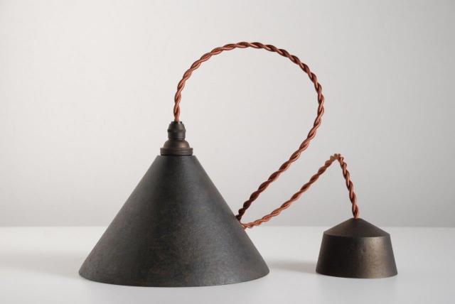 円錐 黒ムラ 鍛金
